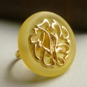 Matte yellow gold ring
