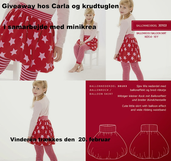 Give away hos Carla og Krudtuglen