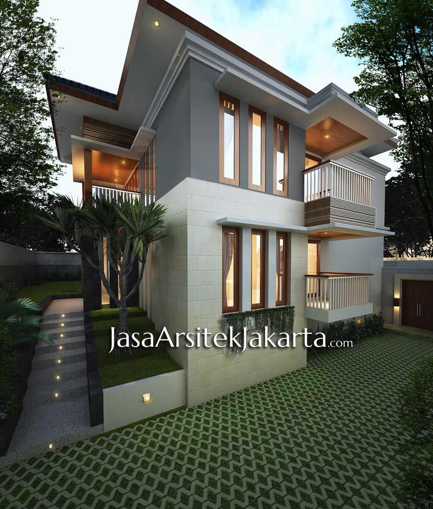 desain rumah elegan 2 lantai luas 430 m2 jasa arsitek