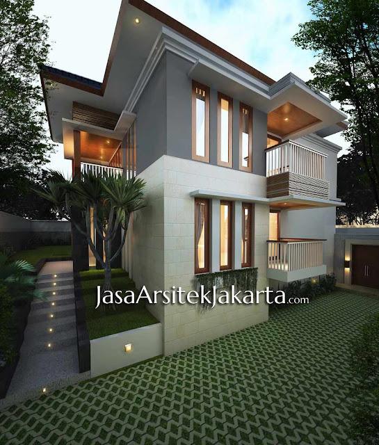 Desain Rumah Elegan 2 lantai luas 430 m2