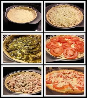 Pesto Turkey Pizza