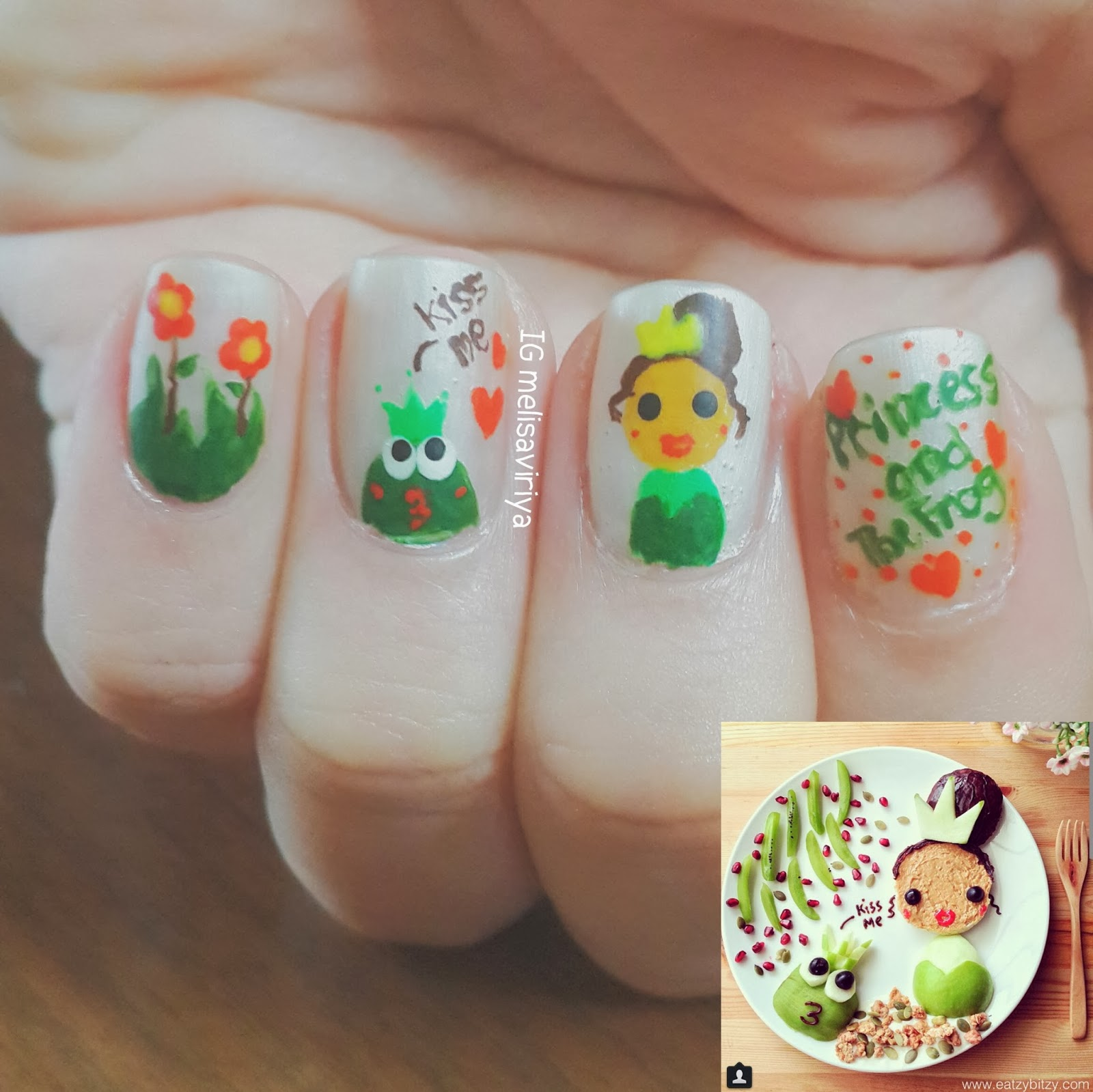 Frog Nail Art: Princess And The Frog Nail Art