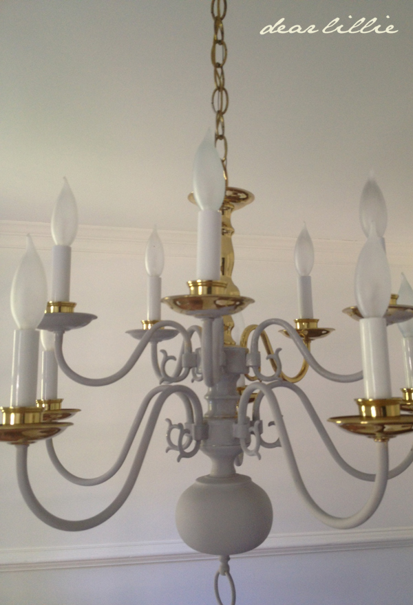 Dear lillie making over a chandelier with chalk paint aloadofball Choice Image