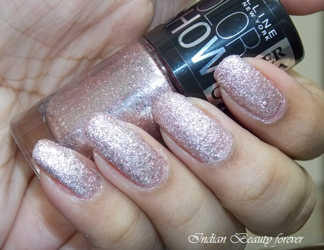 Maybelline Color Show Glitter Mania in Pink Champagne swatches shades price