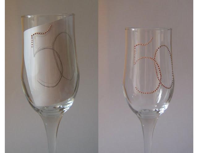 Украшаем бокал для юбиляра 42573