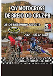 É NESTE DIA 28/12 XXV MOTOCROSS DE BREJO DO CRUZ-PB