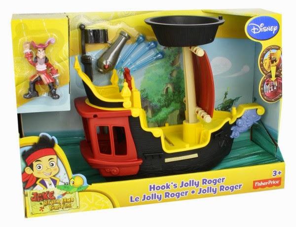 JUGUETES - Fisher-Price : Jake y los Piratas de Nunca Jamás  Jolly Roger | El barco del Capitán Garfio | Hook  Producto Oficial | Mattel Y2265 | A partir de 3 años