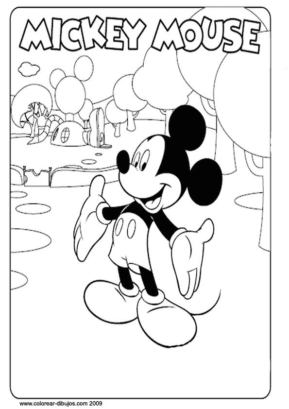 Imagenes de la casa de Mickey Mouse para colorear