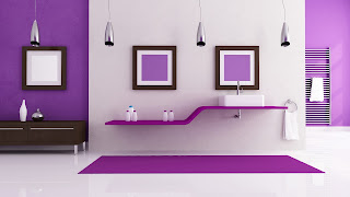 Desain Interior ungu