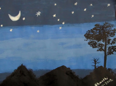 Night sky - painting