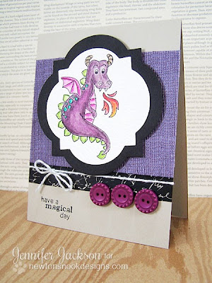 Have a Magical day Dragon Card - Newton's Nook Designs