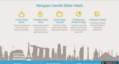 Mengapa memilih Mister Aladin, online booking travel agent