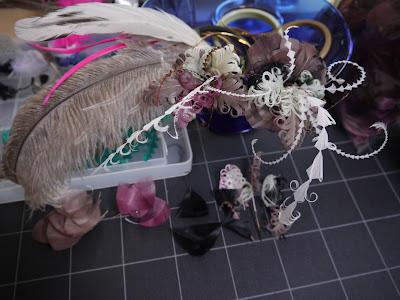 カマタック kamatac  フェザー 羽根 ヘッドドレス norikonakaji