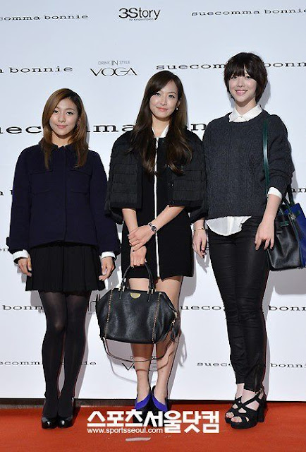 f(x) Sulli, Victoria and Luna at Seoul Fashion Week Suecomma Bonnie show 121025.