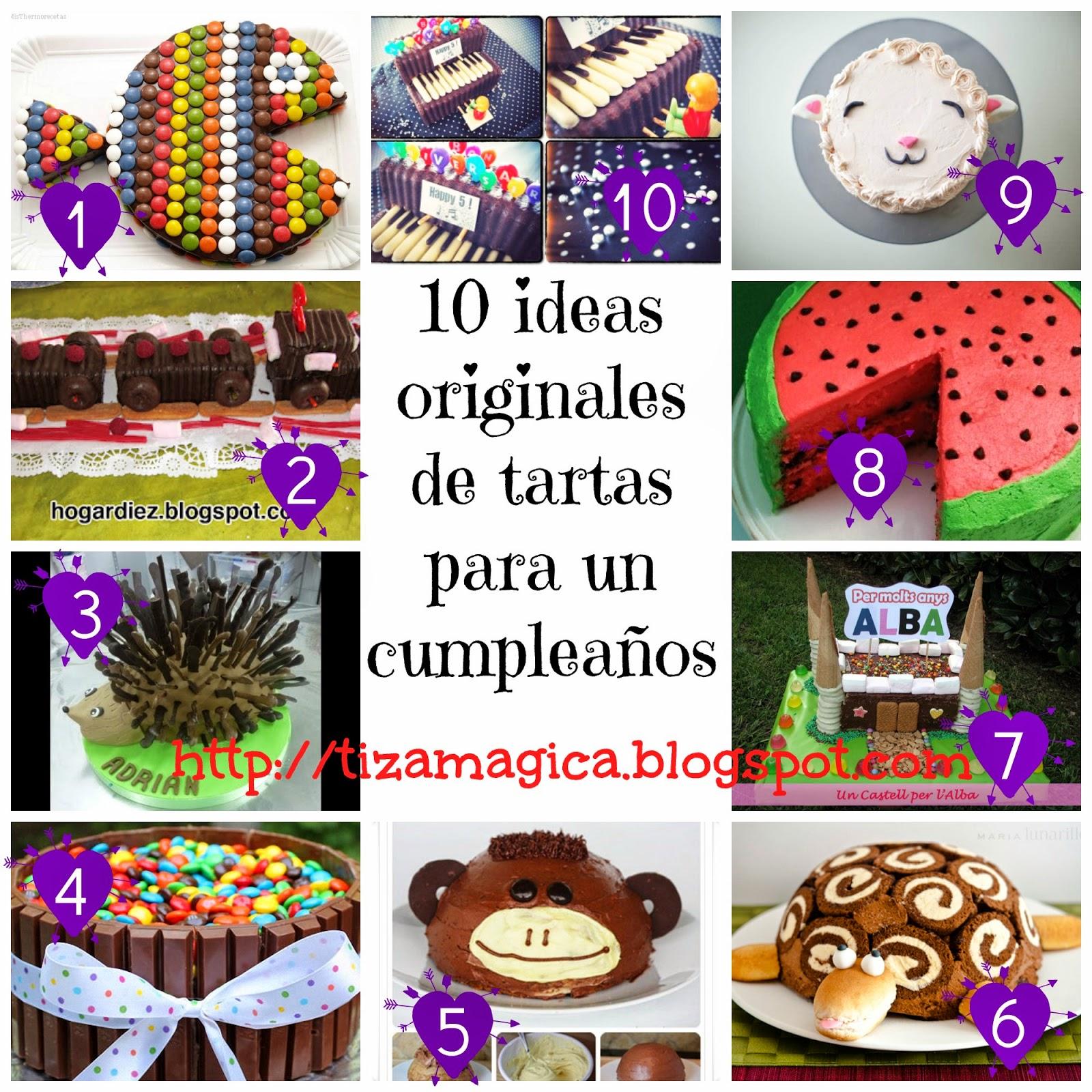 La tiza m gica tartas de cumplea os originales y r pidas - Libros de cocina originales ...
