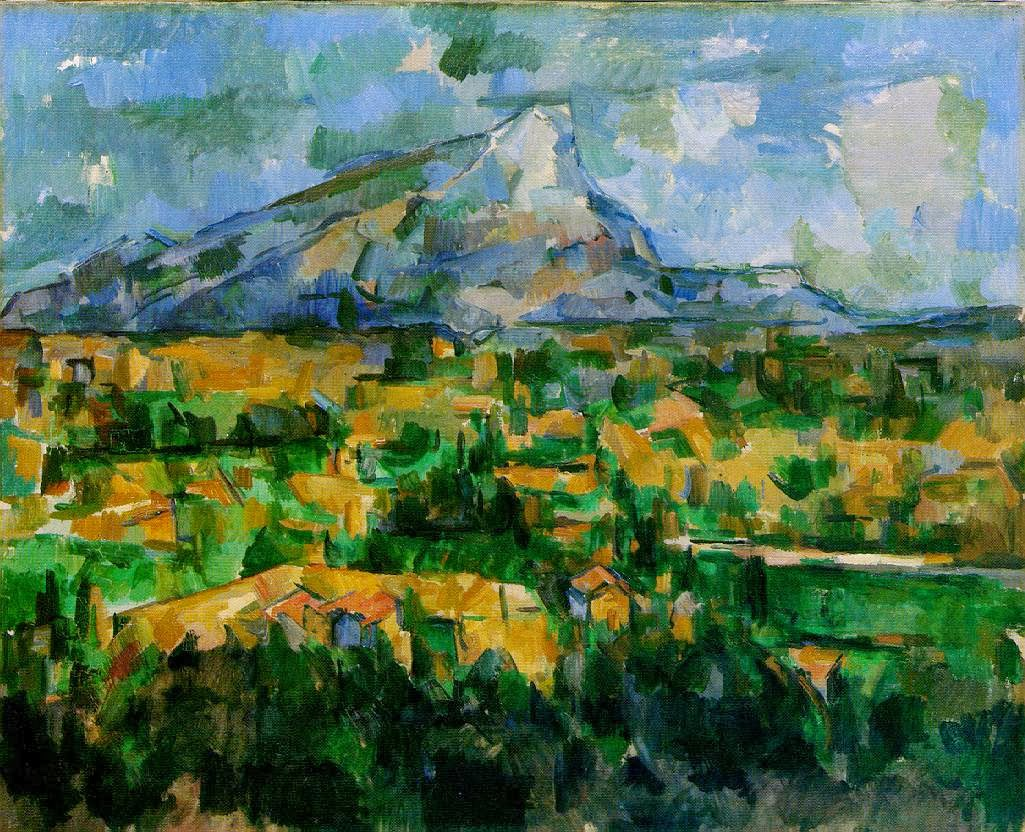 Mont Sainte-victoire Above The Tholonet Road Mont Sainte-victoire Oil