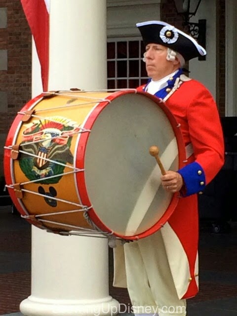 Spirit of America Fife & Drum Corps, Epcot, Hidden Mickey