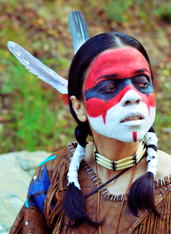 Indian Warrior Face Paint