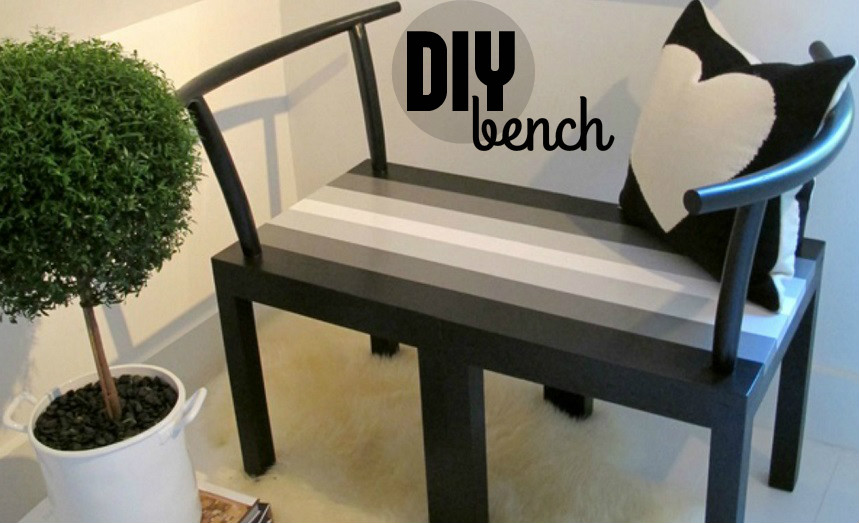transform two chairs into a cool bench