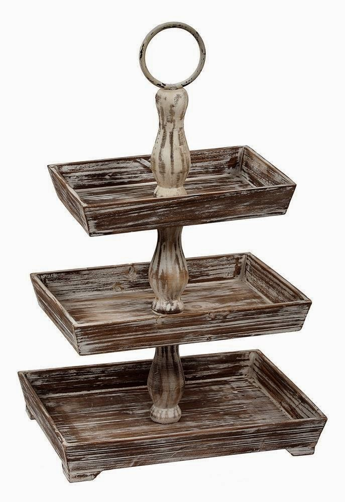 Wooden Tiered Stand ~ Whimsy girl friday finds tiered stands and my desk