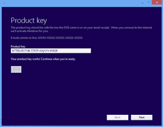 Product key,nomor product,serial number instal ulang,insert serial number,insert product key,product key windows 8,product key windows 8.1