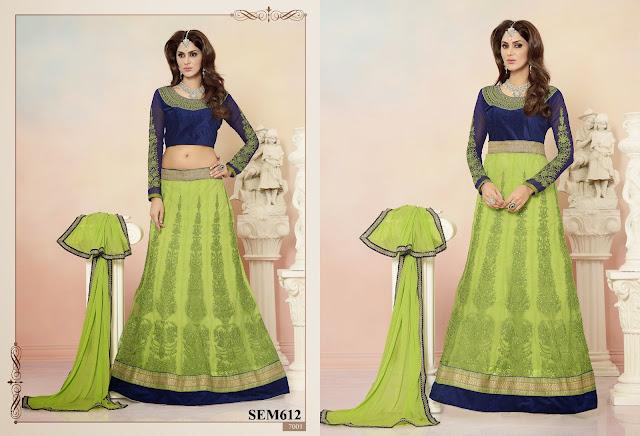 Buy Online Anarkali Designer Suit  – Net Velvet