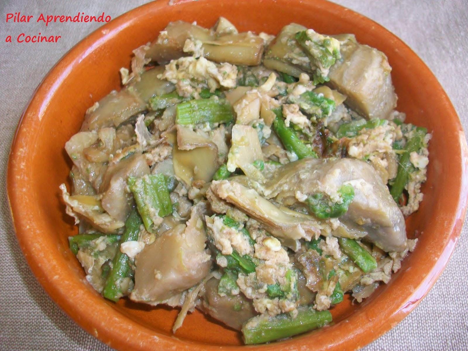 Aprendiendo a cocinar revuelto de corazones de alcachofas for Cocinar alcachofas