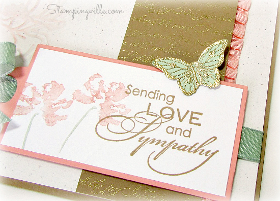 Love & Sympathy focal image with embossed butterfly