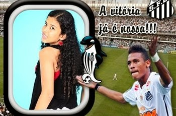 Santos campeão com Neymar