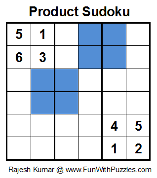 Product Sudoku (Mini Sudoku Series #21)