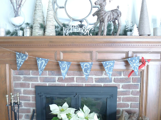 Pottery Barn Inspired Christmas Mantel Christmas Decorating