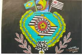 Brazão homenagem, policia militar do estado de sp na copa do mundo fifa brasil arte sinval medeiros