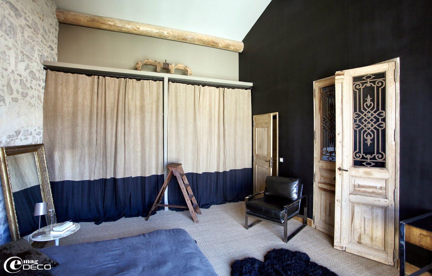 Chambre à coucher conçue par l'architecte d'intérieur Marie-Laure Helmkampf