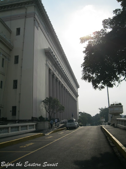 Front street of Manila Central Post Office.