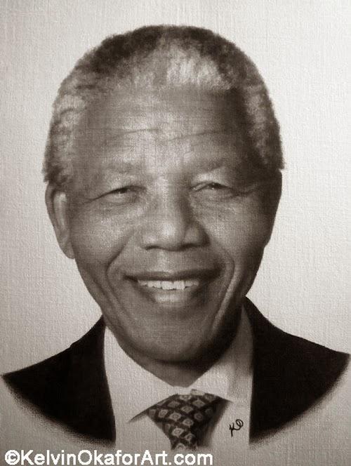 17-Nelson-Mandela-Kelvin-Okafor-Celebrity-Portrait-Drawings-Full-of-Emotions-www-designstack-co