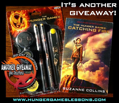 Catching Fire Book & Desk Set Giveaway on www.hungergameslessons.com