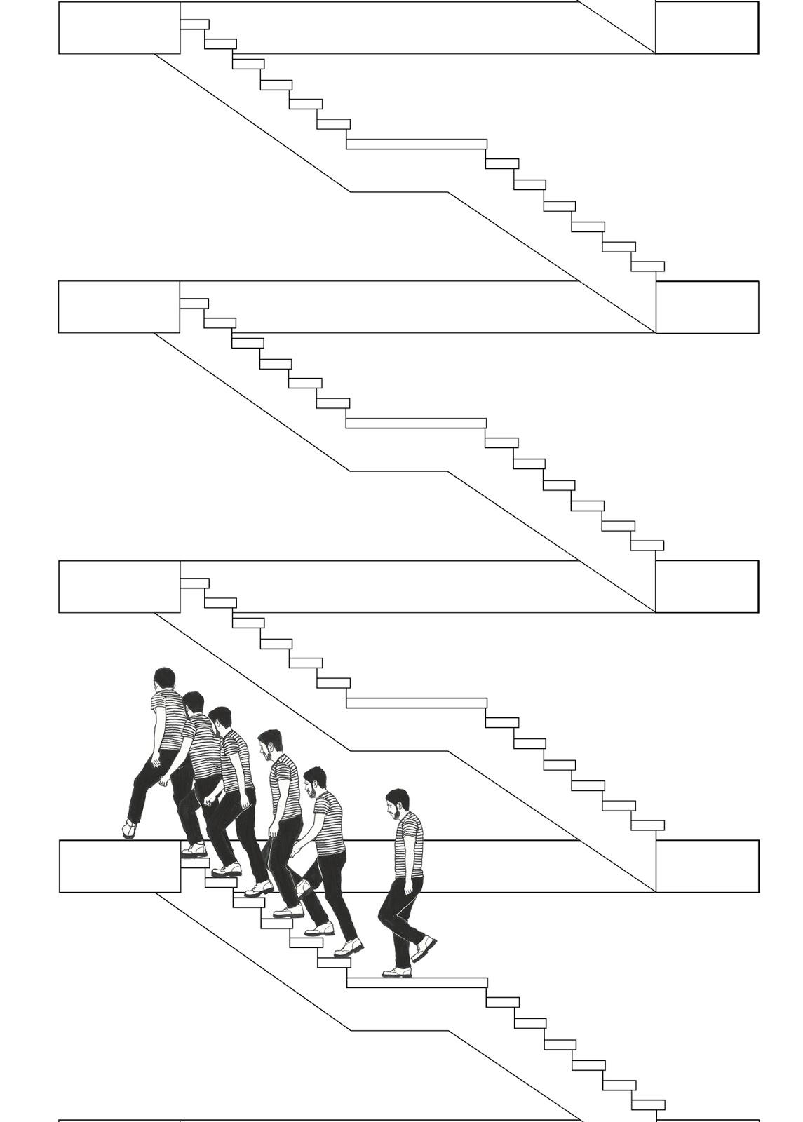Escaleras infinitas manuel calder n dibujos for Escaleras infinitas