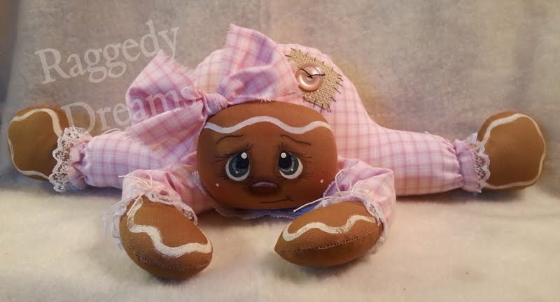 Pink Gingerbread Sitter Doll