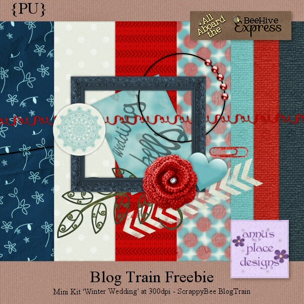 Mini Kit ScrappyBee Blog Train Freebie