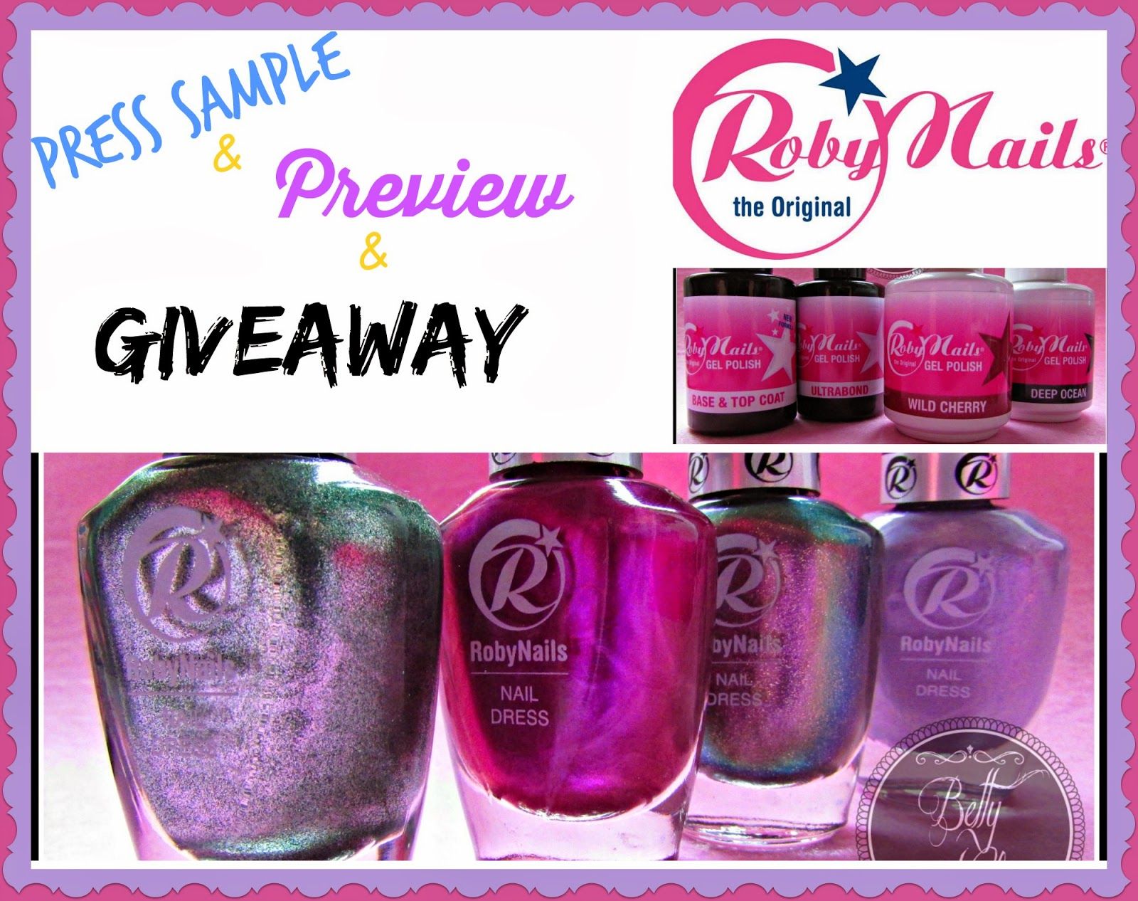 Betty Nails x Roby nails polish giveaway