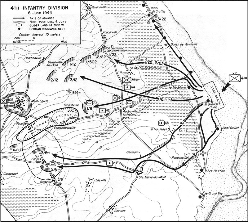 screaming eagles 101st airborne living historians the 101st 101st Airborne WW2 map showing general troop movements in and around pouppeville
