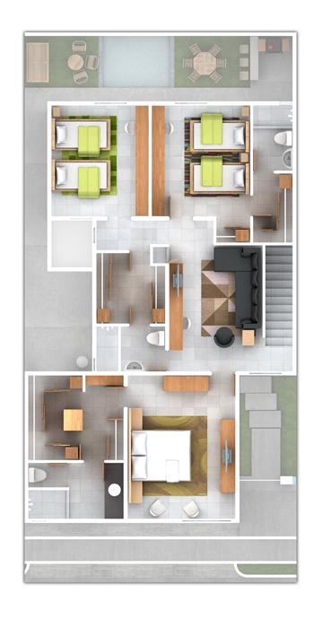 Baño Vestidor Planta:Planos de Casas y Plantas Arquitectónicas de Casas y Departamentos
