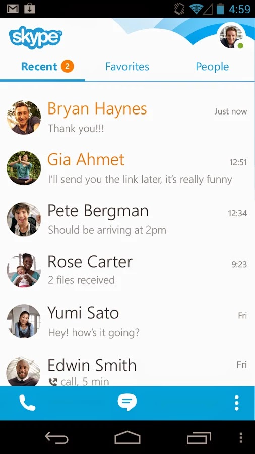 Skype - free IM & video calls v5.2.0.61097