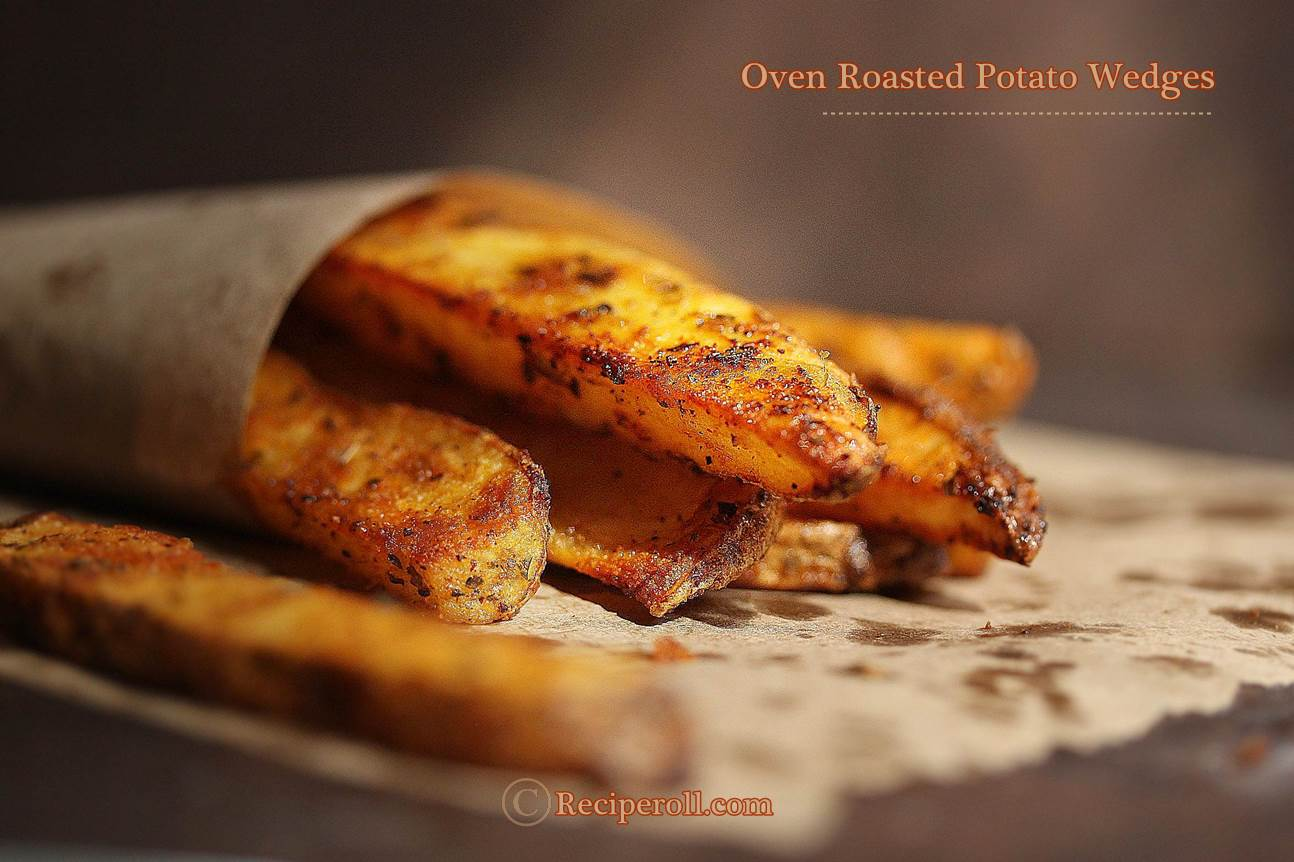 Oven Roasted Potato Wedges | Baked Potato Wedges ~ Sankeerthanam ...