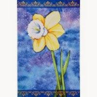 daffodil spring garden flag