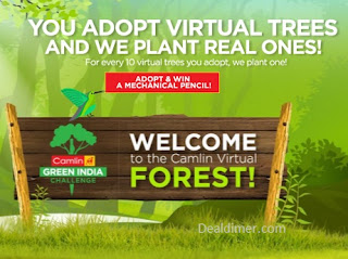 Free Camlin Mechanical Pencil on Adopting Virtual Tree
