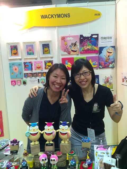 Singapore Toy, Game & Comic Convention STGCC 2015 artist alley wackymons