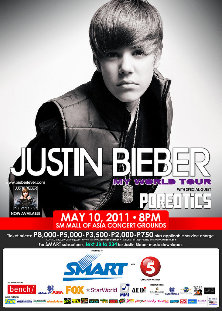 justin bieber world tour ticket. Get your tickets now before