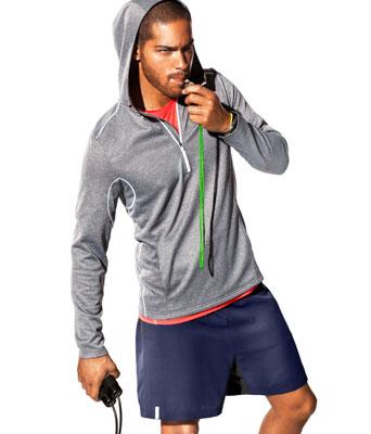 sudadera deportiva con capucha hombre H&M