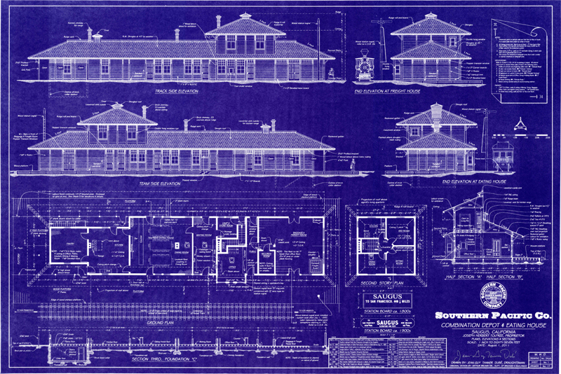 South coast railroad museum blueprints share depot for Architecture blueprints